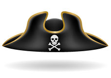 Pirate hat tricorn vector illustration Stock Photography