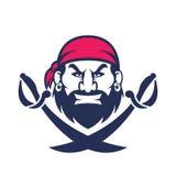 Pirate head mascot Royalty Free Stock Photo