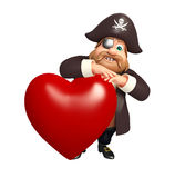 Pirate with Heart Stock Photography