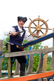 Pirate at the helm Royalty Free Stock Photography