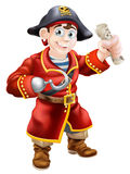 Pirate holding a treasure map Stock Photography