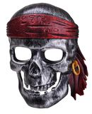Pirate human skull mask Royalty Free Stock Photography