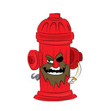 Pirate hydrant cartoon Stock Photography