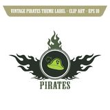 Pirate icon art Royalty Free Stock Image