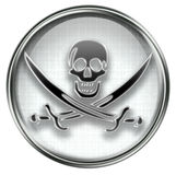 Pirate icon grey Stock Images