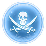 Pirate icon ice Royalty Free Stock Image
