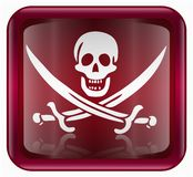 Pirate icon red Royalty Free Stock Photos