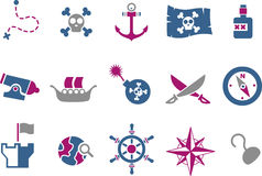 Free Pirate Icon Set Stock Photo - 9853790
