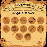 Pirate icon set Royalty Free Stock Photography