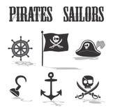 Pirate icon set Stock Photography