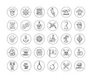 Pirate icon set Stock Photography