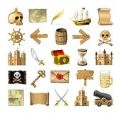Pirate icons Royalty Free Stock Image
