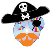 Pirate illegal CD (DVD) disks. Royalty Free Stock Photography