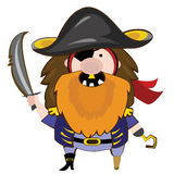 Pirate Illustration. Pirate, with sword and a wooden leg. Illustration is also available as an .ai file Stock Images