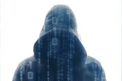Pirate informatique au travail Photographie stock libre de droits