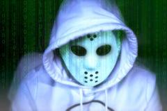 Pirate informatique blanc anonyme photos libres de droits
