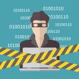 Pirate informatique, concept de sécurité d'Internet illustration libre de droits