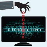 Pirate informatique de mot de passe Images libres de droits