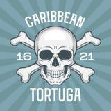 Pirate insignia concept. Caribbean tortuga island Stock Image