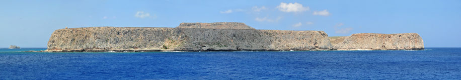 Pirate island Gramvoussa. Crete, Greece Royalty Free Stock Image