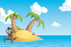 Pirate island Stock Images