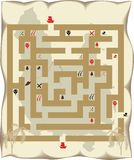 Pirate island maze Royalty Free Stock Images