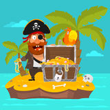 Pirate on island part 1 Stock Image