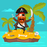 Pirate on island part 4 Royalty Free Stock Photo