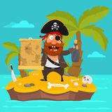 Pirate on island part 2 Royalty Free Stock Images