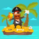 Pirate on island part 3 Stock Photo