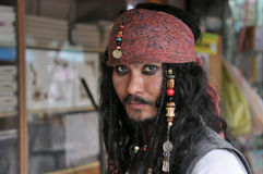Pirate Jack Sparrow Look Alike Stock Photography