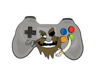 Pirate joystick cartoon Royalty Free Stock Images