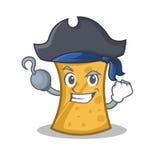 Pirate kebab wrap character cartoon. Vector illustration royalty free illustration