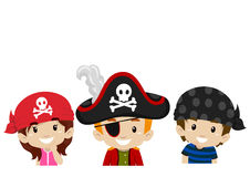 Pirate Kids Head Stock Photos