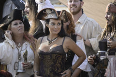 Pirate lady Royalty Free Stock Images