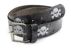 Pirate leather belt Stock Image