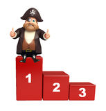 Pirate with 123 Level. 3d rendered illustration of Pirate with 123 Level vector illustration