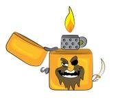 Pirate lighter cartoon Stock Photo