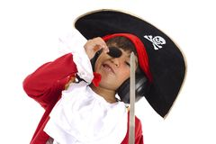 Pirate Listen Music Royalty Free Stock Photos