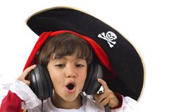 Pirate Listen Music Royalty Free Stock Image
