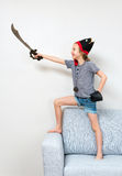 Pirate little girl. Royalty Free Stock Photo