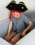 Pirate little girl. Royalty Free Stock Images