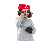 Pirate little girl Stock Images