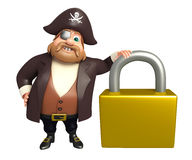 Pirate with Lock. 3d rendered illustration of Pirate with Lock Stock Photos