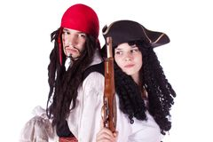 Pirate man and woman Royalty Free Stock Photos