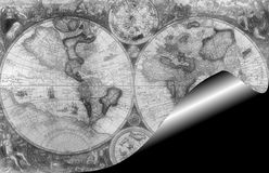 Pirate map. Parchement old pirate treasure map stock image