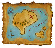 Pirate map Royalty Free Stock Photo