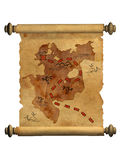 Pirate map. A way to treasure Stock Photo