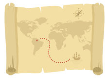 Pirate map Stock Photography
