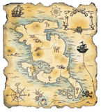 Pirate Map  Stock Photos